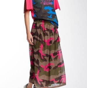 NWOT Love Moschino Camo Print Maxi Skirt SOLD OUT